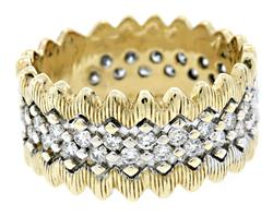 Zig Zag Ring with 1.5 CTW of Diamonds