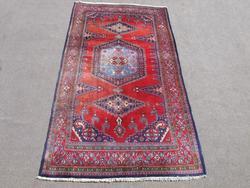 Hand Woven Wool on Wool Semi Antique Persian Viss 6x11