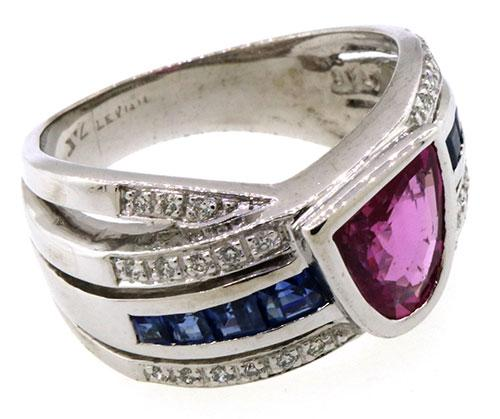 Levian Pink Sapphire And Diamond Ring