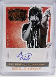 Neil Perry, Band Perry Hand Signed Panini Card