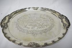 Tiffany & Co Antique 1900 Sterling Cherub Presentation Tray