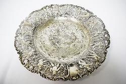 Pierced Charming  Cherub Hanau Continental Silver Bowl Circa 1880