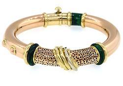 La Nouvella Bague Enamel Bracelet in 18K