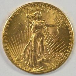 Choice BU 1927 US St. Gaudens $20 Gold Piece