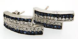 Vintage Sterling Silver Gemstone Earrings