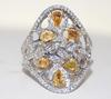 Fancy Yellow Diamond Cocktail Ring in 18kt Gold