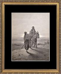 Gustave Dore 'Joseph and Mary Flee'