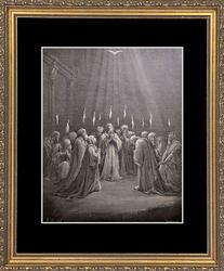 Gustave Dore 'The Apostles Speak in Tongues'