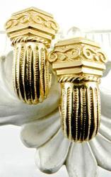 Intricate 14kt Gold Pair of Lovely Earrings