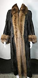 Persian Lamb & Sable Floor Length Coat