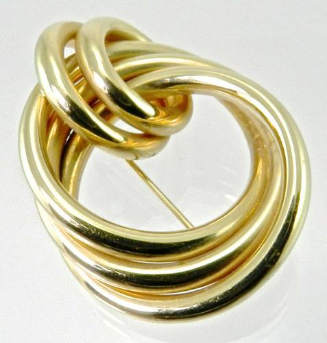 Classic Yet Contemporary Knot Brooch