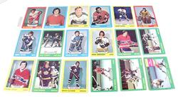 18 Hockey Cards, 1974