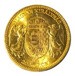 1893 Austria 20 Corona Gold BU