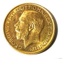 Australia BU  Gold Sovereign 1914