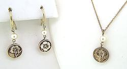 Tiffany & Co Nature Rose Earrings & Necklace Set