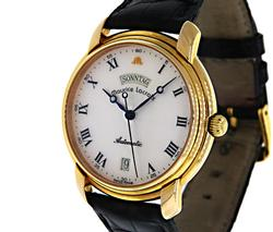 Maurice Lacroix Gold Plated Day Date Automatic Watch