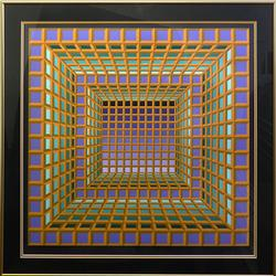 Spectacular Victor Vasarely Hand Signed Serigraph