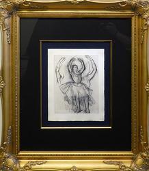 Limited Edition Edgar Degas Etching, circa 1936