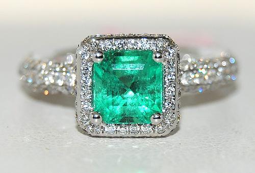 2+ctw Emerald & Diamond 18kt Gold Ring, Gorgeouse!