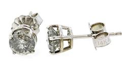 Diamond Solitaire Pair Of Stud Earrings