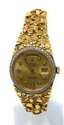 Rolex mens 18k yellow gold Day-Date