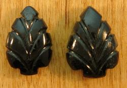 Pair of 12.85ct black Tourmaline carving