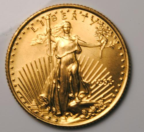 1995 BU $10 American Gold Eagle, 1/4 oz