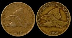 Sharp 1858 SL & 1858 LL Flying Eagle Cents