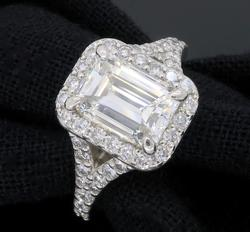 Platinum GIA Certified 1.77CTW Diamond Ring