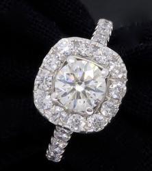 Elegant Neil Lane 1.15CTW Diamond Halo Ring