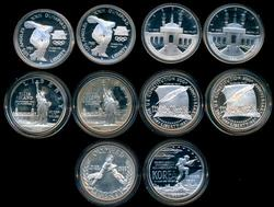 10 Mixed Gem Proof Modern Silver Commem 50c. Capsules