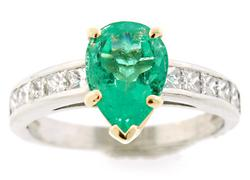 2.4 CTW Emerald & VS Diamond Band in Platinum