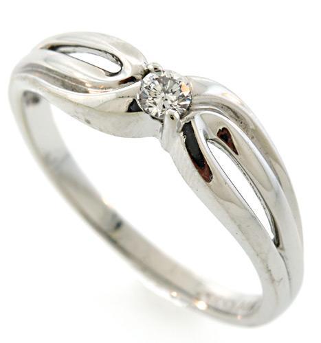 Diamond Loop Ring in White Gold