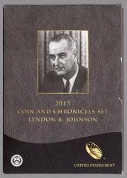 2015 Lyndon Johnson Coin and Chronicles Set