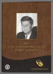 2015 John F Kennedy Coin and Chronicles Set