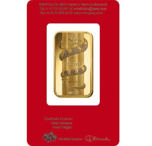 1 OZ Fine Gold Bar Snake