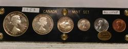 1953 Canada Mint Set, Capital Holder, six piece Sil set