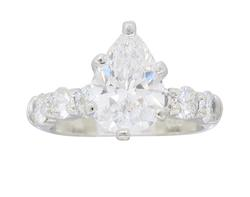 GIA Certified 1.19CT Pear Cut Diamond Ring