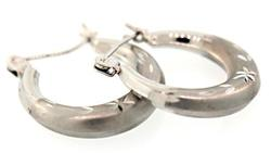 Diamond Cut Hoop Earrings