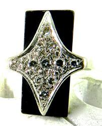 Dramatic Diamond and Black Onyx Ring