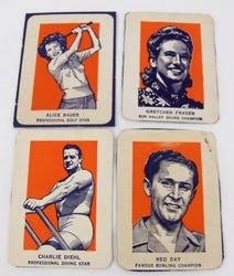 4 Vintage Wheaties Sports Star Cut-Outs