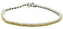 Yellow Diamond Tennis Bracelet in Sterling