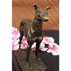 Grey Hound Bronze Statue Racing Dog Trophy