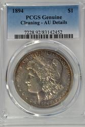 Ultra Rare 1894 Morgan Silver Dollar. PCGS AU details