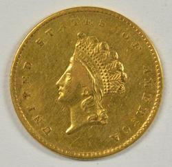 Great-looking 1855 US Type 2 $1 Gold Piece. Scarce