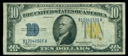 Desirable 1934-A $10 North Africa Silver Certificate
