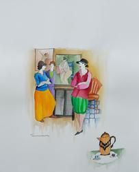 Original Signed Tarkay Watercolor