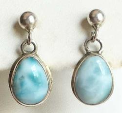 Amazing, 'Larimar' Mint Green, Gemstone Earrings
