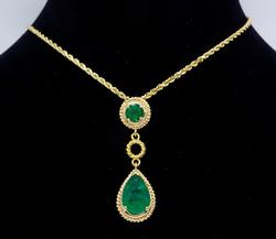 Wonderful Emerald & Diamond Necklace