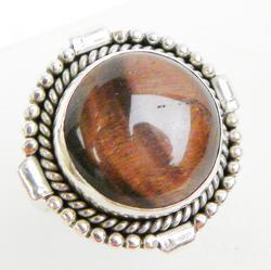 Ornate Sterling Cat's Eye Ring
